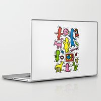 keith haring Laptop & iPad Skins featuring Keith Haring & Simpsons by le.duc