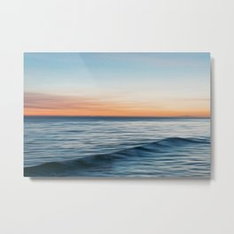 Abstract Ocean Sunset Metal Print