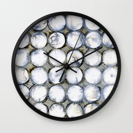 WATERCOLOUR DISCS: White Howlite Wall Clock