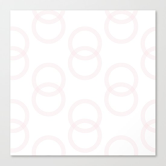 Simply Infinity Link in Flamingo Pink on White Canvas Print