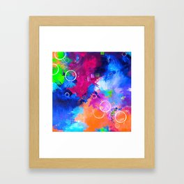 Scrap Paint 1 - Colorful abstract art Framed Art Print