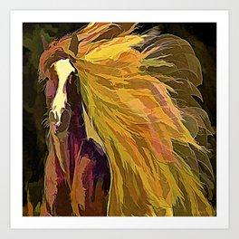 Running Horse Art Print