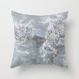 Alpine Meadows & Squaw Valley Trail Map Throw Pillow