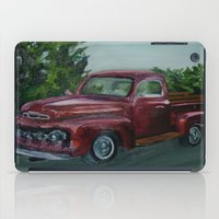 truck iPad Cases featuring Pickup truck by spiderdave7