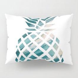 Tropical Teal Pineapple Pillow Sham