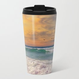 Navarre Beach Sunset Travel Mug