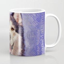 Alaskan Malamute Portrait on word cloud Coffee Mug