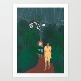 Le Jardin de Nuit Art Print