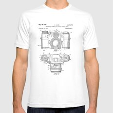 Camera Patent Drawing X-LARGE Mens Fitted Tee White