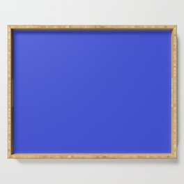 Bright Blue Solid Serving Tray