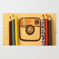 instagram Area & Throw Rugs featuring For Instagram Lovers ;) by Julia Kovtunyak