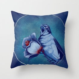 The Nightingale And The Rose Throw Pillow