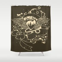 evil Shower Curtains featuring Evil Heart by MaNia Creations