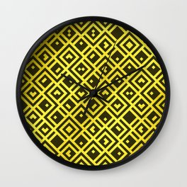 Gold Collection K12 - QR Pixel Cubes Wall Clock