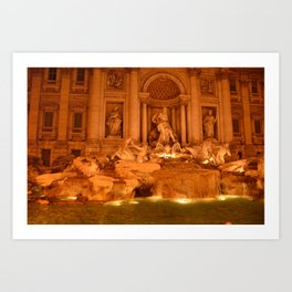 Trevi at night Art Print