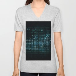 Technology Portal with Digital Circle Access System Unisex V-Neck