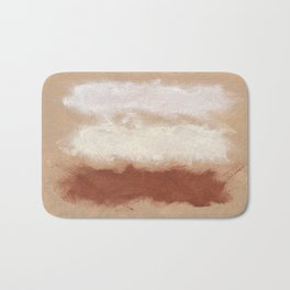 Rothko Inspired Spiced Berry Canyon Dusk Color Field Modern Artist Corbin Henry Art Bath Mat