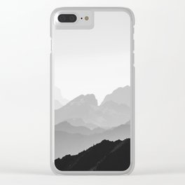 Layers (Black & White) Clear iPhone Case