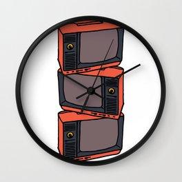Retro Vibes : TVs Wall Clock