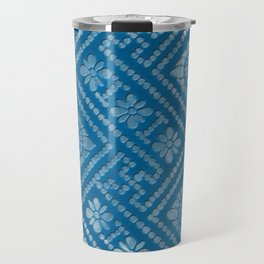 Blue Burnout Two Travel Mug