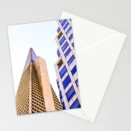 pyramid building and modern building at San Francisco, USA Stationery Cards