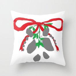 Merry Mistletoe Throw Pillow