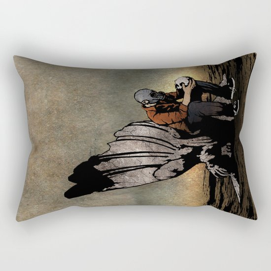 The Angel And The Skull Rectangular Pillow