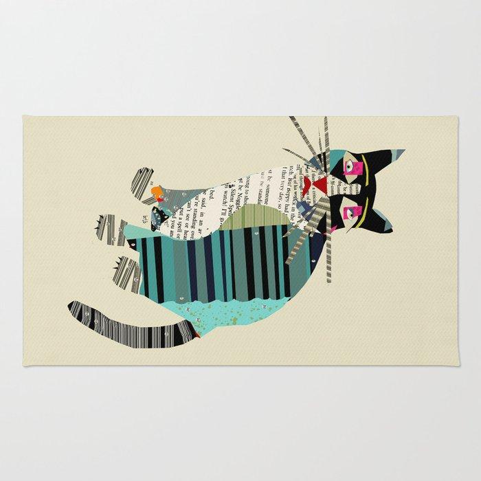 Blackberry Cat Rug By Bribuckley