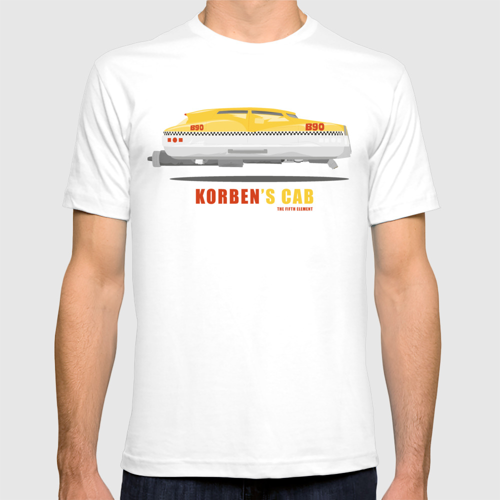 Korben's Cab From The Fifth Element Movie T-shirt by Straedart TSR7767740