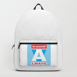 Be Yourself Always, (Playing With Stripes collection) Backpack