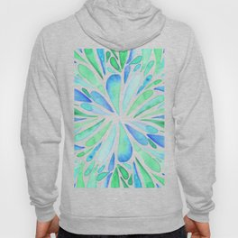 Symmetric drops - turquoise and blue Hoody