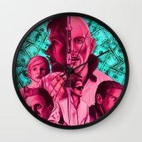 drive Wall Clocks featuring Drive by David Amblard