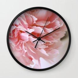 Peony Pink Wall Clock