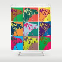 camel Shower Curtains featuring Camel Soup by Flight of Horace