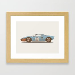 Ford GT40 illustration Framed Art Print