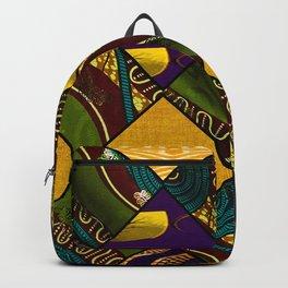 Earthy Mardi Gras African Print Backpack