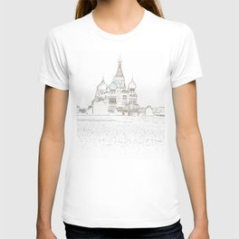 Saint Basil's Cathedral (on white) T-shirt