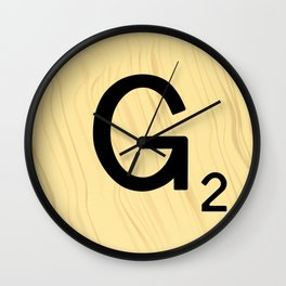 Scrabble G Decor, Scrabble Art, Large Scrabble Prints, Word Art, Accessories, Apparel, Home Decor Wall Clock