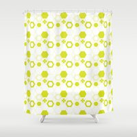 polygon Shower Curtains featuring Polygon by Julianne Chia
