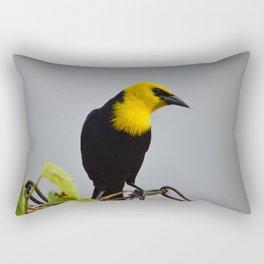 Yellow Headed Blackbird Rectangular Pillow