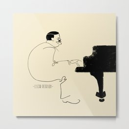 Jazz Lines: Oscar Peterson Metal Print