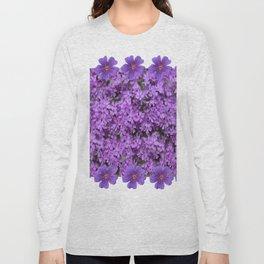 WHITE  LILAC PURPLE SPRING PHLOX FLOWERS GARDEN Long Sleeve T-shirt