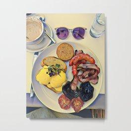 Kitchen Art, Sunday Brunch, Food Art, Breakfast Art, Still Art, Food photography, English breakfast Metal Print