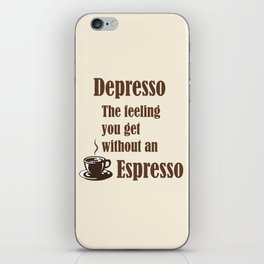 Espresso iPhone Skin