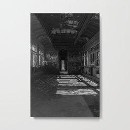 Abandoned Train Car Metal Print