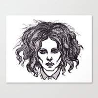 jack white Canvas Prints featuring JACK WHITE by Niamhkerins ❤