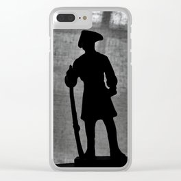 A Man Guarding (Silhouette) Clear iPhone Case