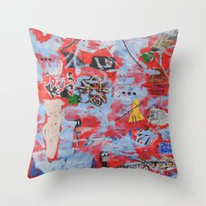 The Wild Ones inspired by Jean-Michel Basquiat Throw Pillow