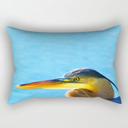 The Great One - Blue Heron By Sharon Cummings Rectangular Pillow