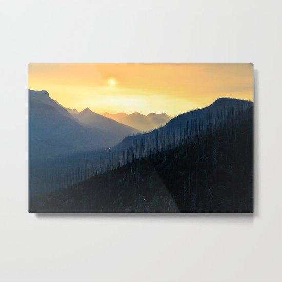 Sunrise Over Mountains Metal Print